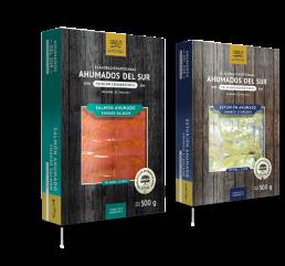 Sobres salmón y esturión